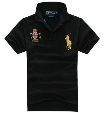 ralph lauren t-shirt couronne big pony man women noir